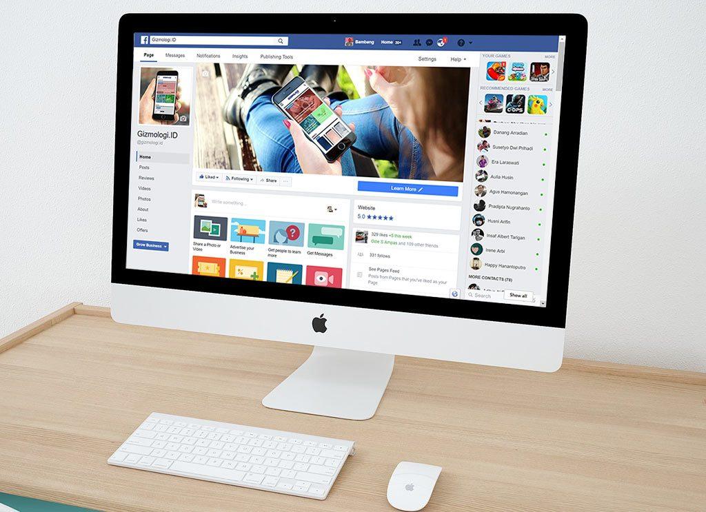 facebook page desktop