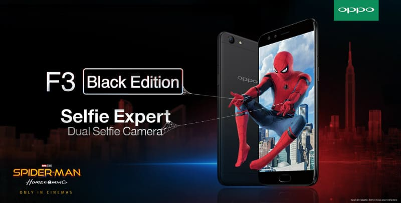 OPPO F3 Spiderman Homecoming
