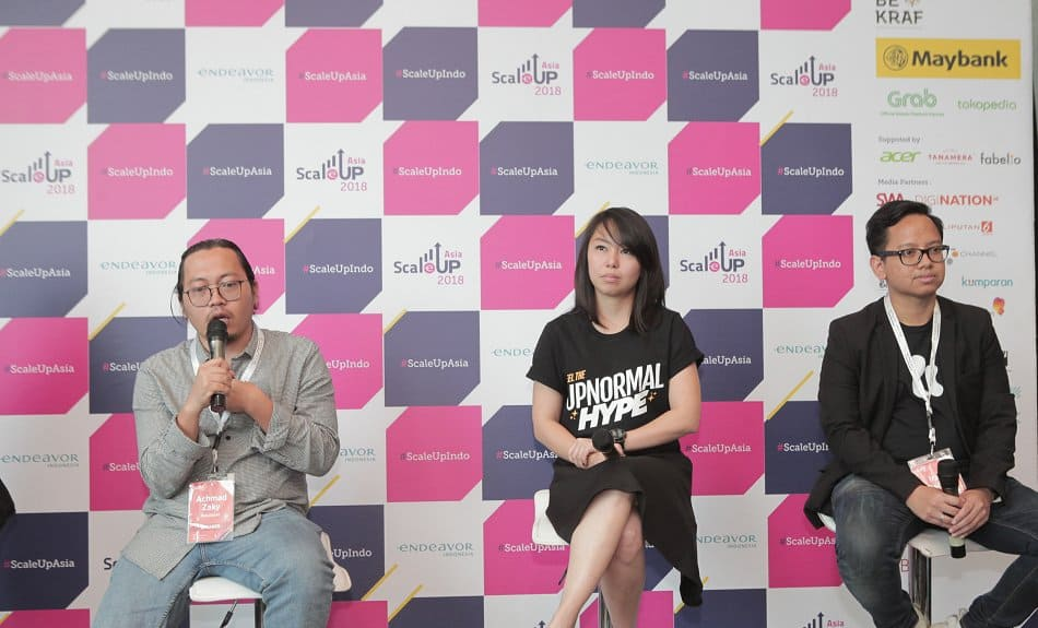 Achmad Zaky Founder Bukalapak Stefanie Kurniadi Founder CRP Group Irzan Raditya Founder Kata.ai1