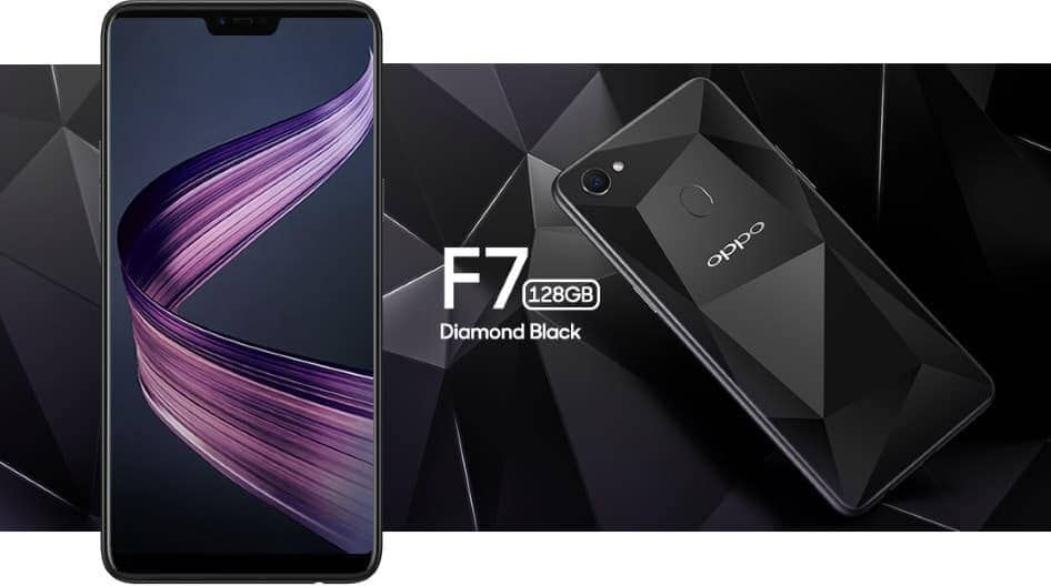 OPPO F7 Diamond Black 2