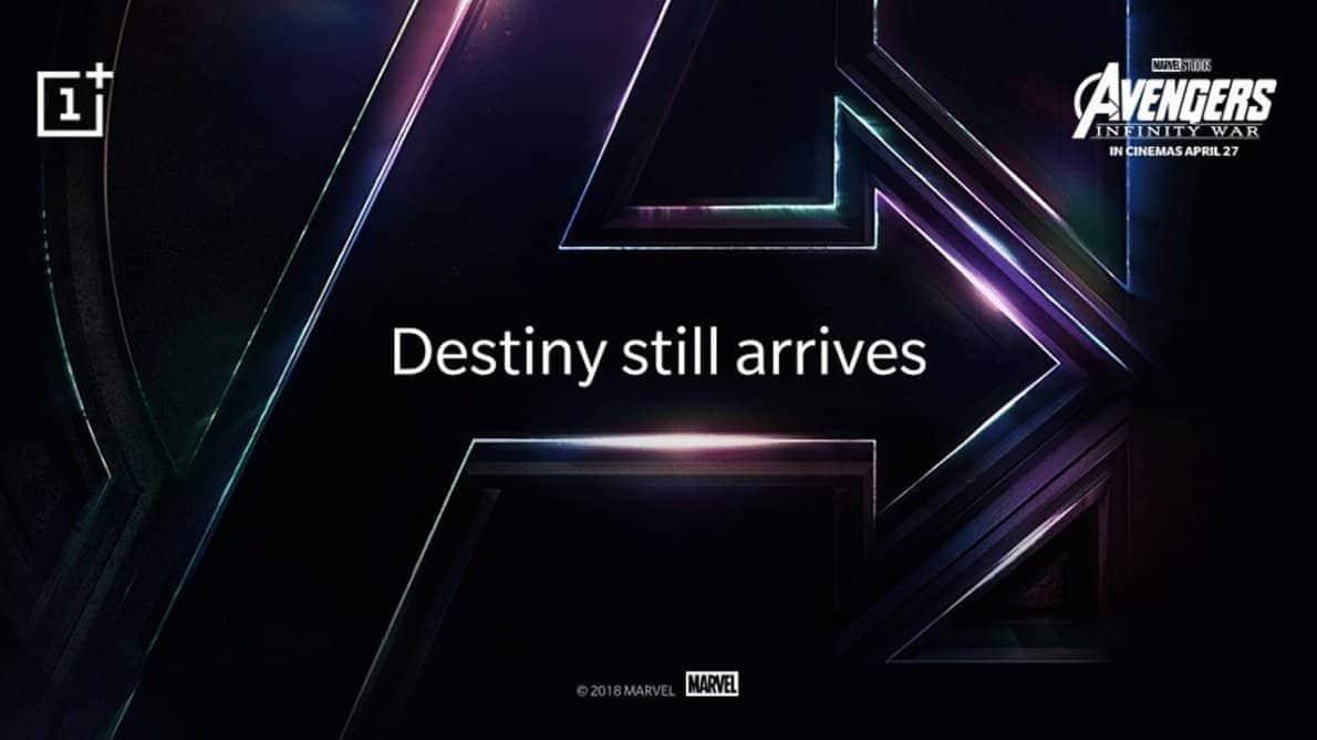 Smartphone OnePlus 6 tema Avengers. Foto oleh gadgetmatch.com