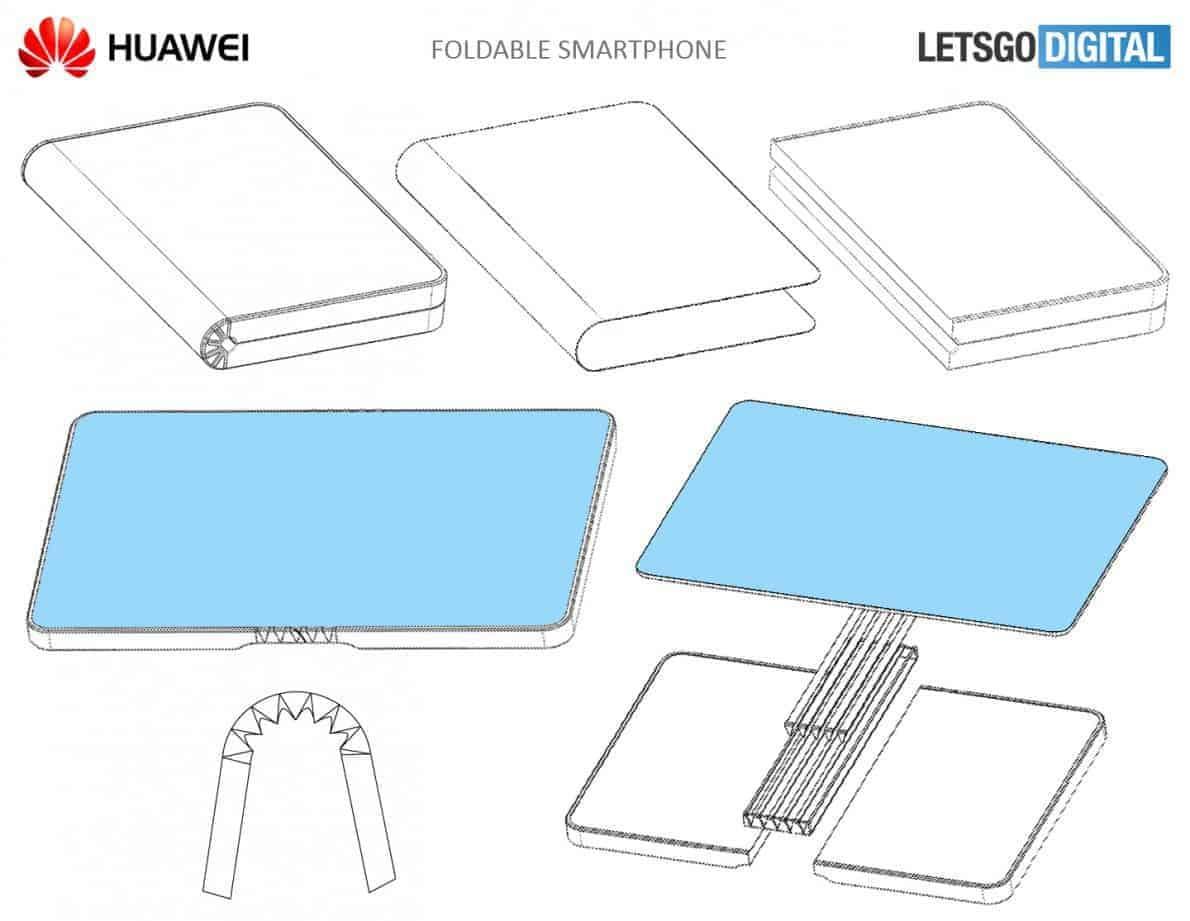 diagram huawei foldable phone