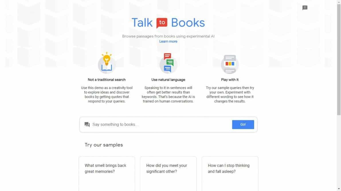 Talk to Books Google. Foto oleh the-digital-reader.com