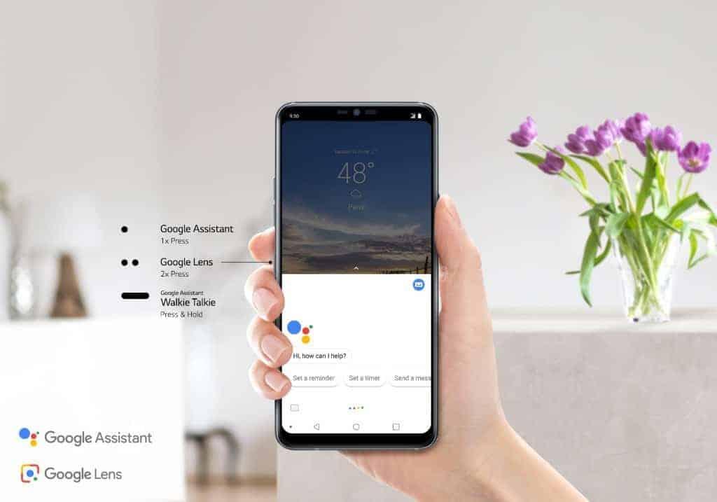 LG G7 ThinQ Google assistant button