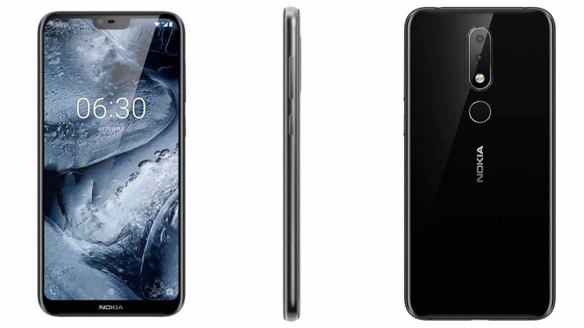 Nokia X6 front notch and back