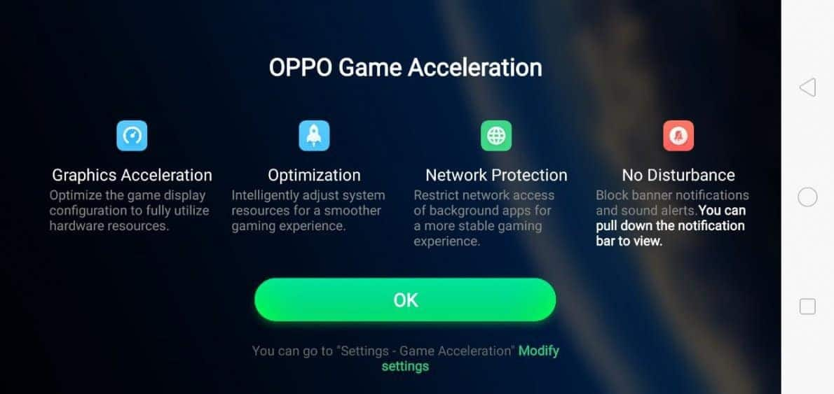 OPPO Game Acceleration