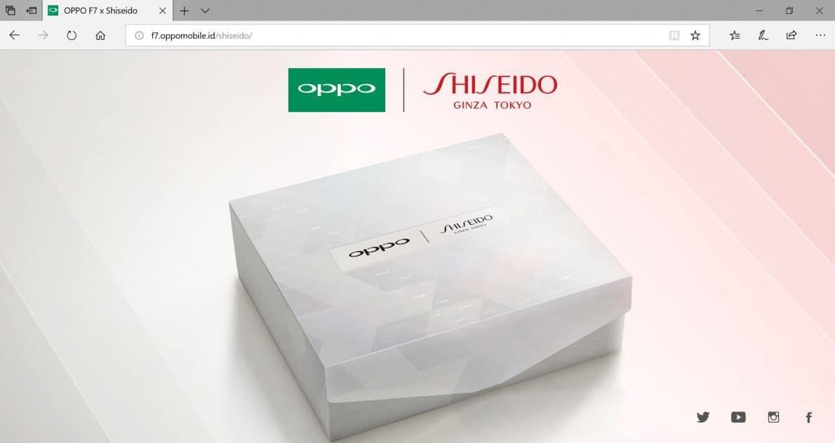 Kolaborasi OPPO dan Shiseido