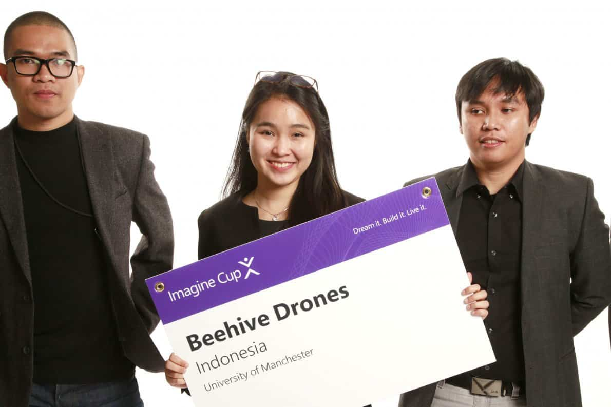 BeeHive Drones Team from Indonesia Imagine Cup World Final 2018 1