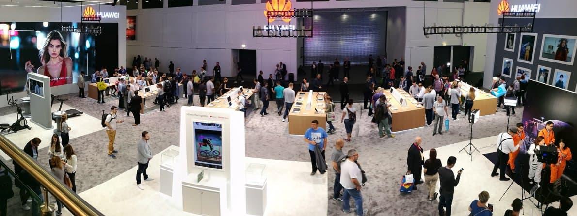 Ilustrasi partisipasi Huawei dalam pameran gadget IFA 2018. Foto oleh jet-services.com