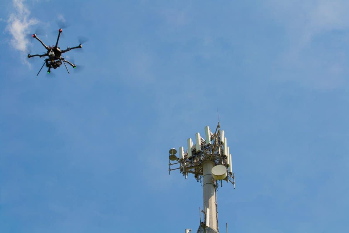 aplikasi drone inspeksi menara