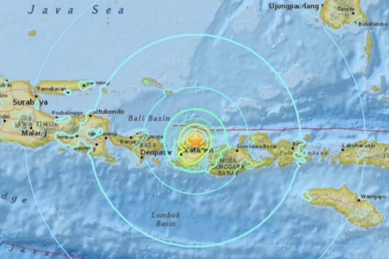 peta gempa lombok