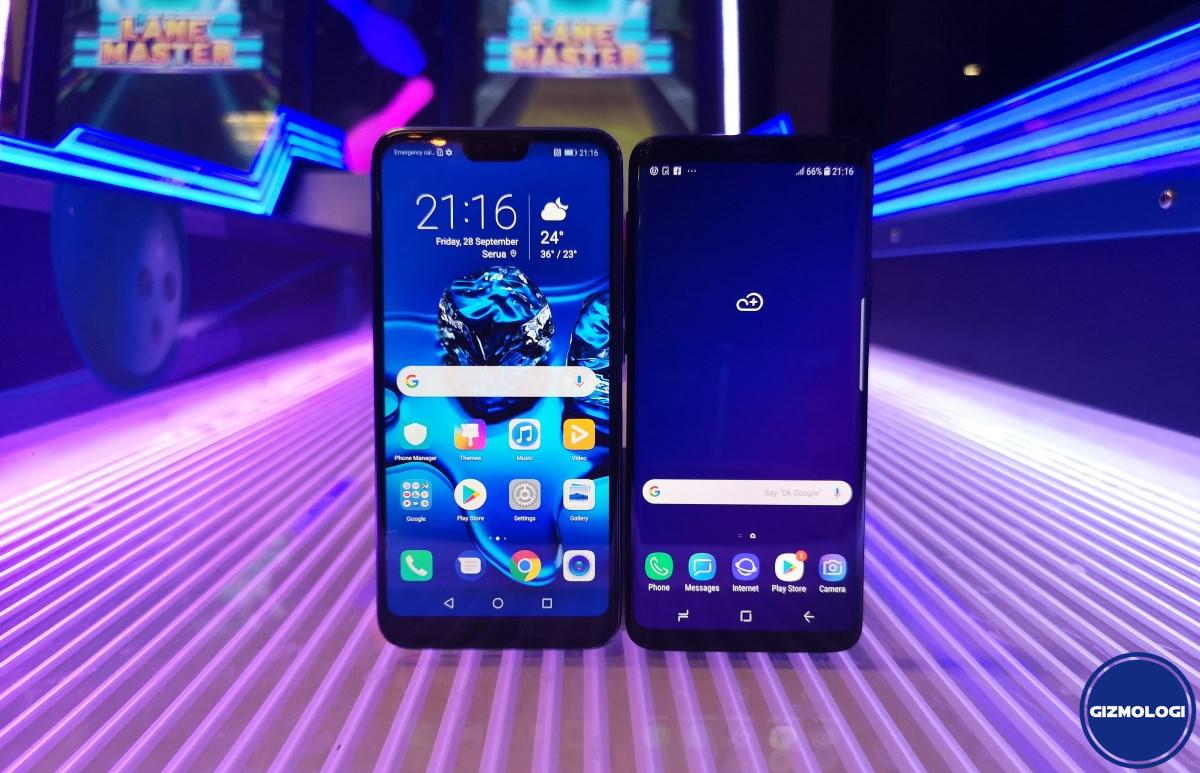 Honor 10 vs Samsung Galaxy S9 b