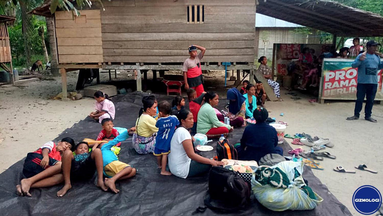 Para korban gempa Donggala. Foto oleh kumparan.com