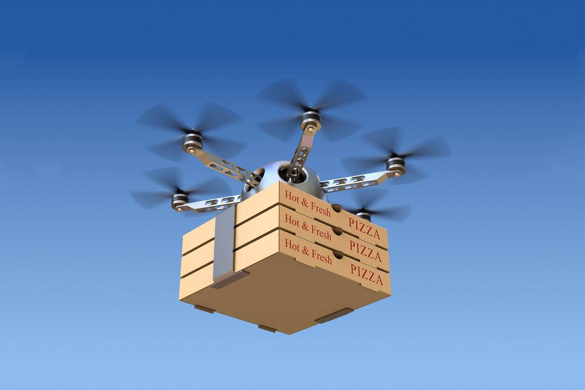 drone pizza edit