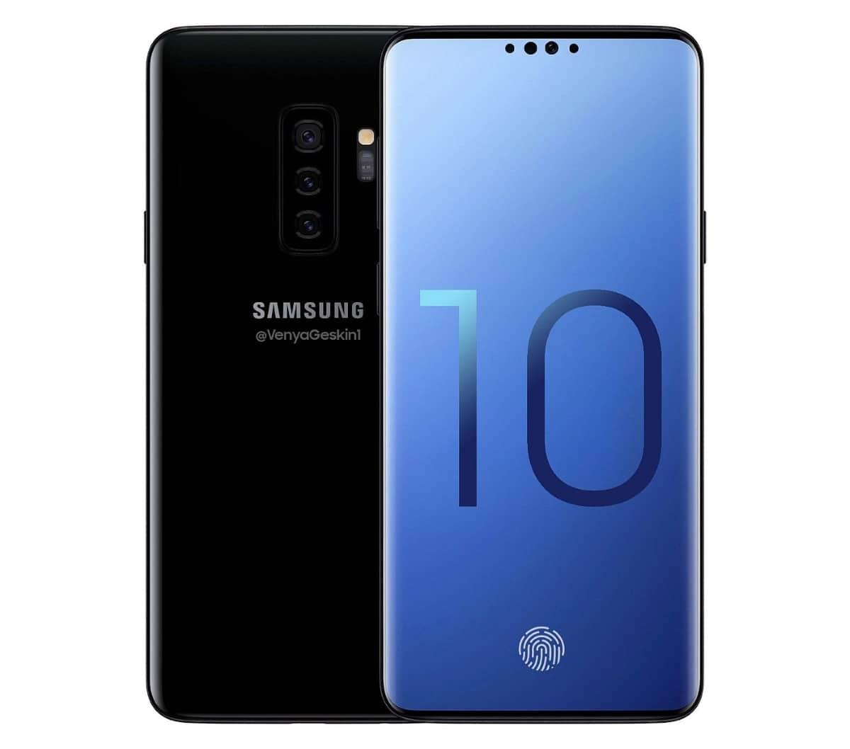 Samsung Galaxy S10 concept Ben Geskin design edit