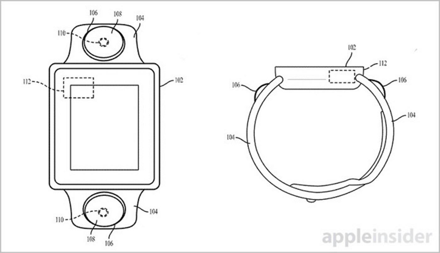 Desain kamera Apple Watch. Foto oleh USPTO