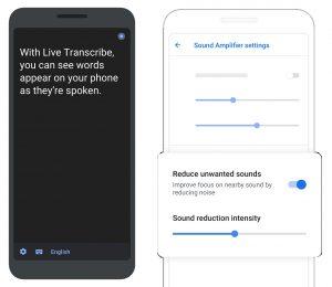 Live Transcribe dan Sound Amplifier