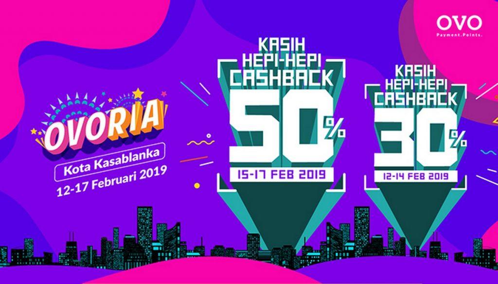 Cashback 50% OVO