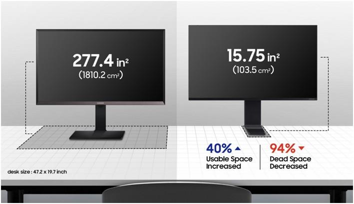 Penopang Samsung The Space Monitor