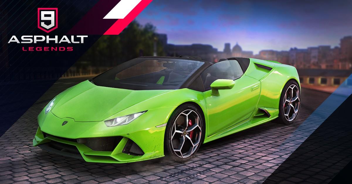 Lamborghini Huracán EVO Spyder di Asphalt 9: Legends