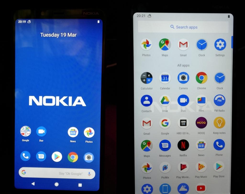 Menu Android 9 Pie di Nokia 3.1 Plus