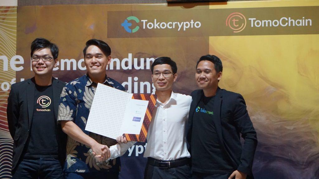 Penandatanganan Nota Kesepahaman Tokocrypto dan Tomochain untuk Implementasi Blockchain