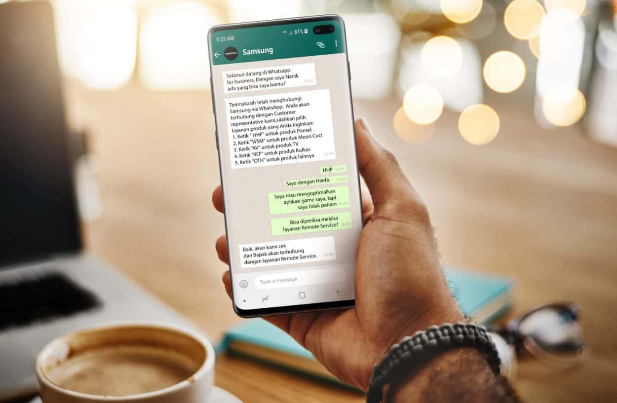 Layanan Konsumen digital Samsung via Whatsapp