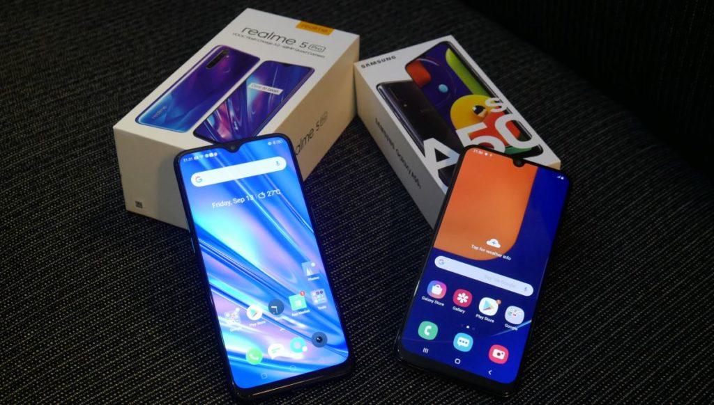 Realme 5 Pro Vs Samsung Galaxy A50s Kompetisi Smartphone Midrange Seri 5 Gizmologi