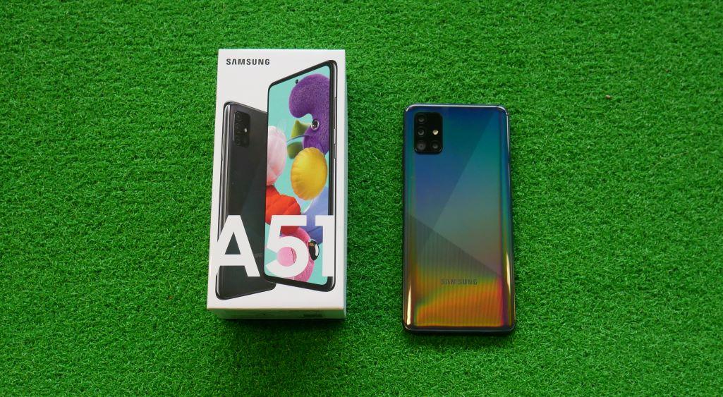 Samsung Galaxy A51 desain