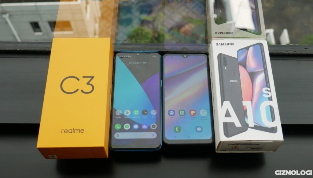 realme C3 vs Samsung Galaxy A10s komparasi