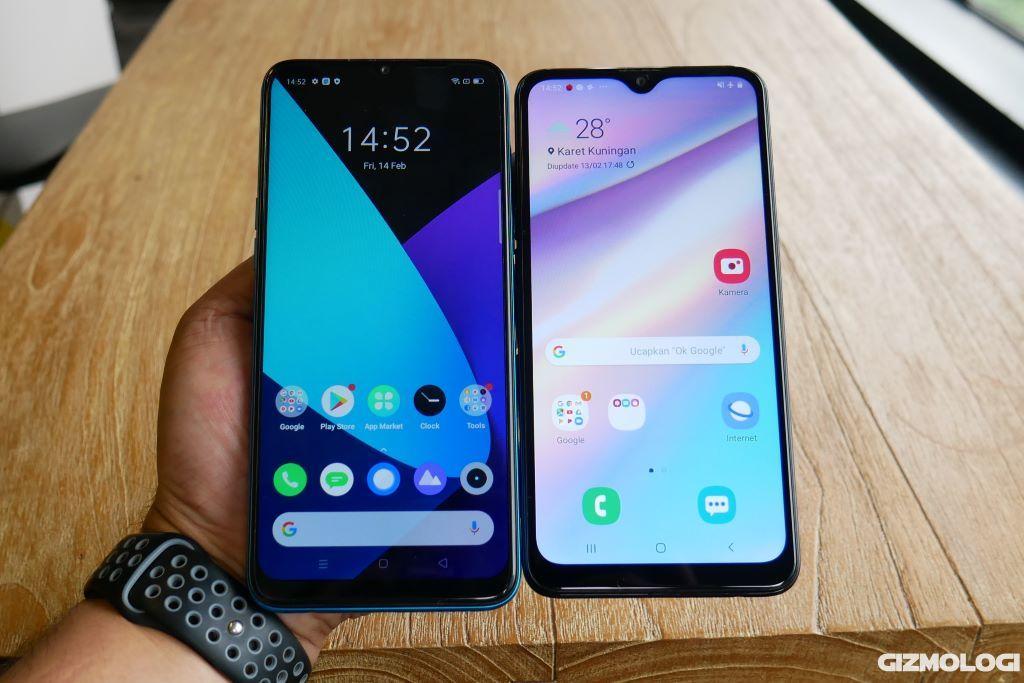 realme C3 vs Samsung Galaxy A10s layar