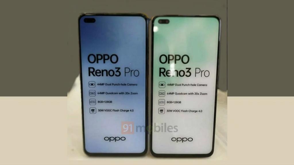 Spesifikasi kunci Oppo Reno3 Pro versi India.