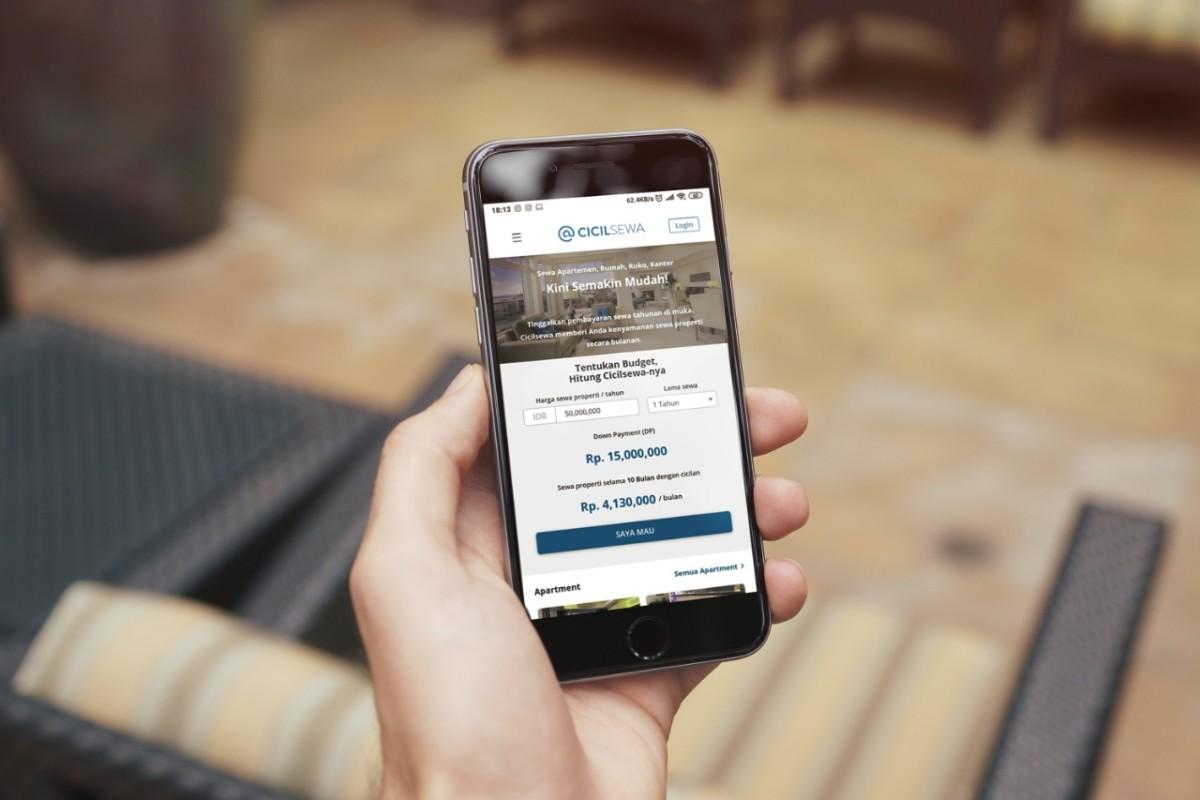 Aplikasi CicilSewa rumah apartemen kost kantor