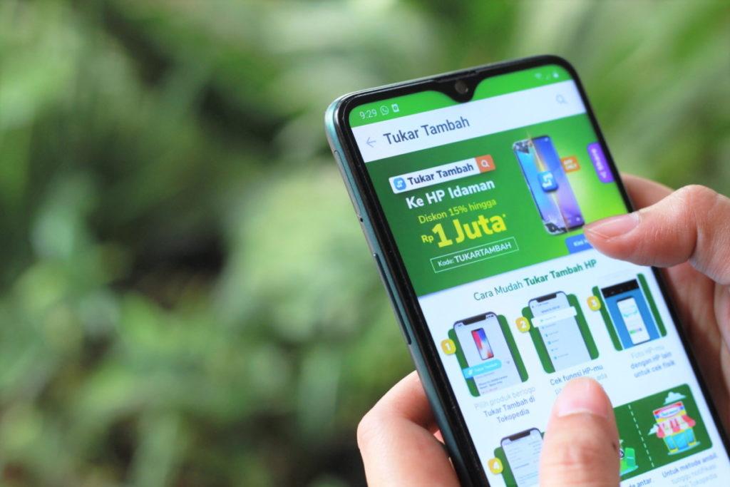 Fitur Tukar Tambah Smartphone Tokopedia