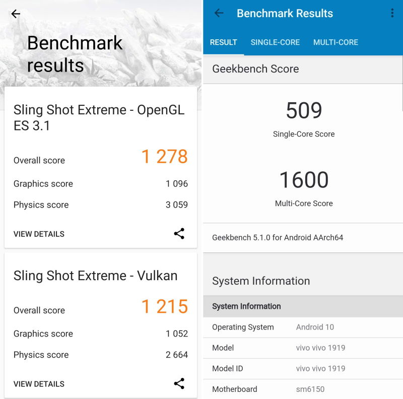 benchmark vivo v19
