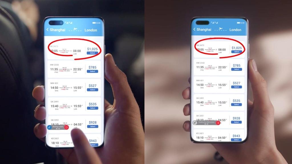 Screen sharing Huawei MeeTime