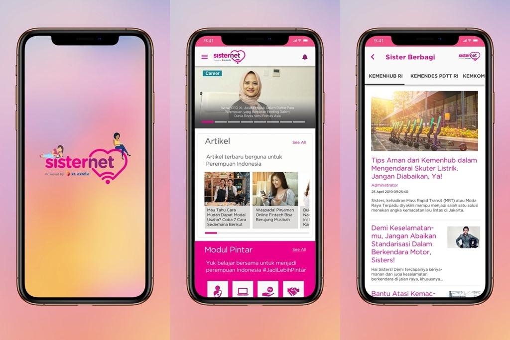 Aplikasi Sisternet iOS