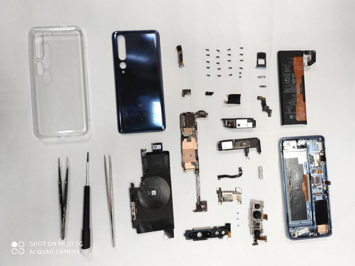 komponen lengkap Xiaomi Mi 10