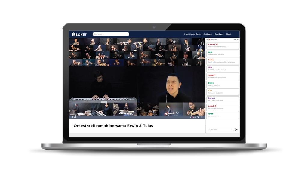 konser Erwin Gutawa Orchestra dan Tulus lewat LOKET Live