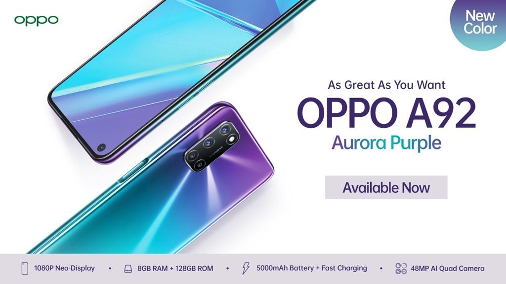 OPPO A92 Aurora Purple