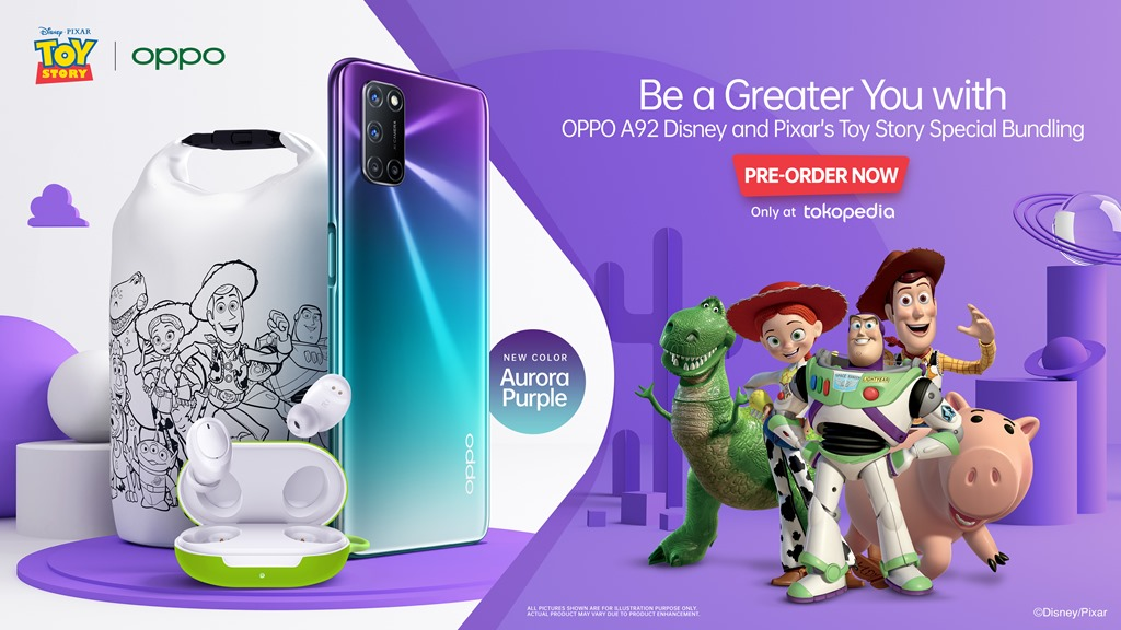 OPPO A92 Disney & Pixar Toy Story Edition Special Bundling