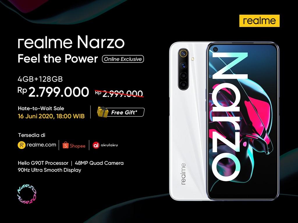 Penjualan realme Narzo