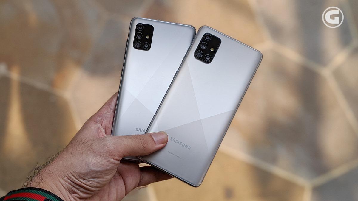Galaxy A51 A71 Haze Crush Silver