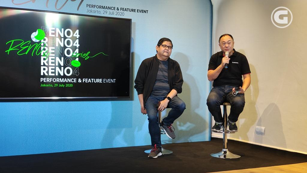 Aryo Meidianto A, PR Manager & Dominikus Susanto, Senior Manager Business Development, Qualcomm Technologies jelaskan performa prosesor OPPO Reno4