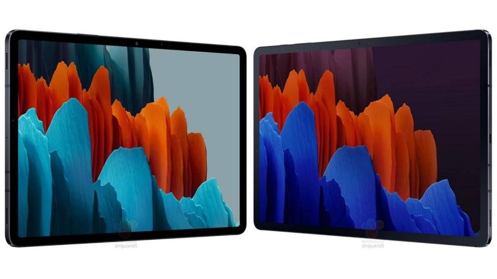Layar Galaxy Tab S7