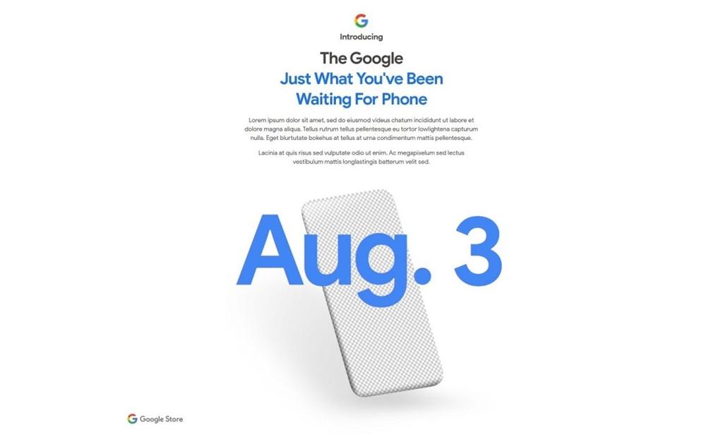Google Pixel 4a 3 Agustus