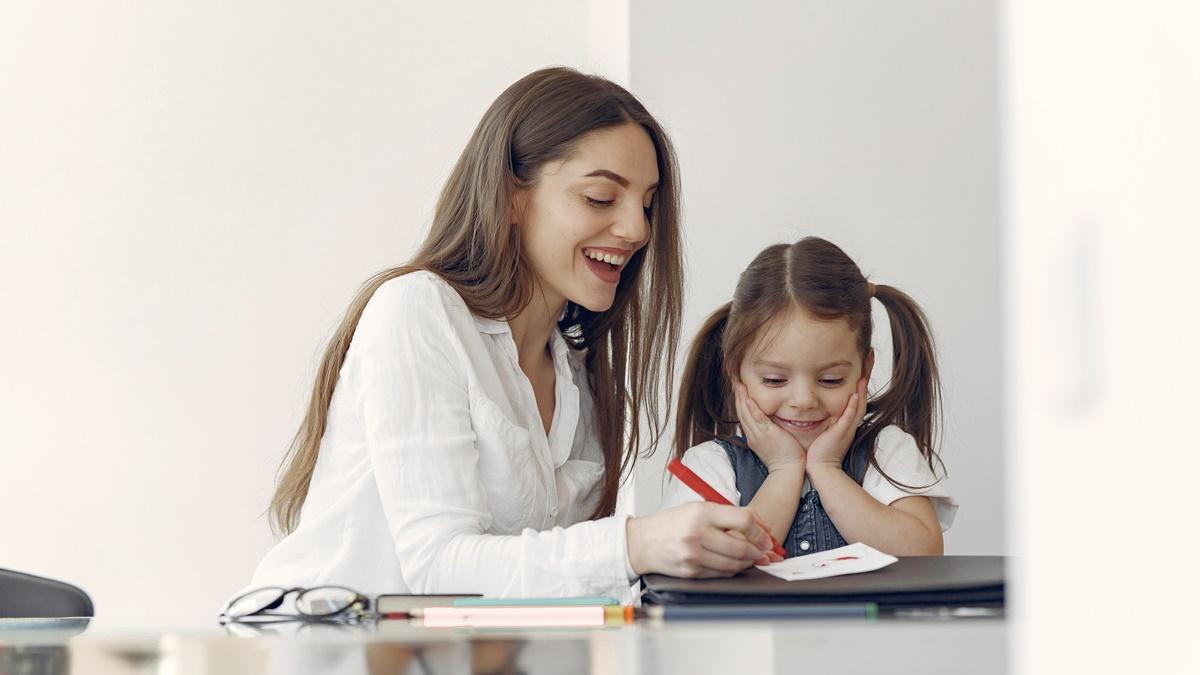 ilustrasi pembelajaran orang tua & anak