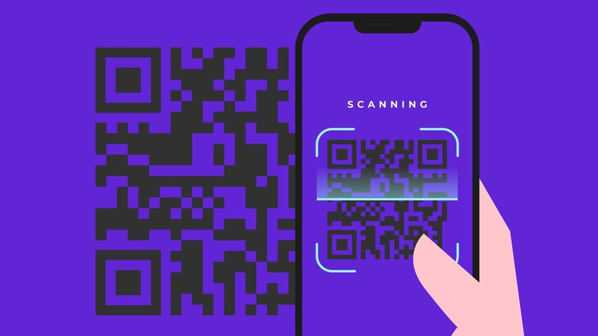 Ilustrasi scan QR code
