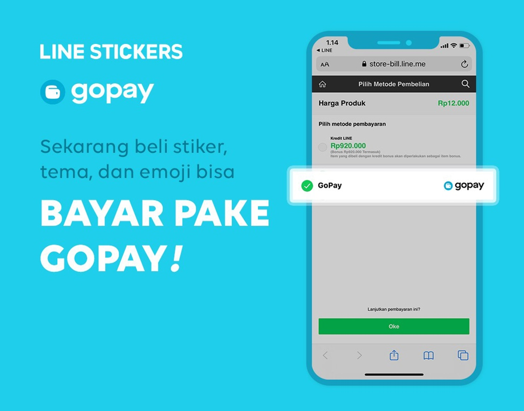 line stickers gopay