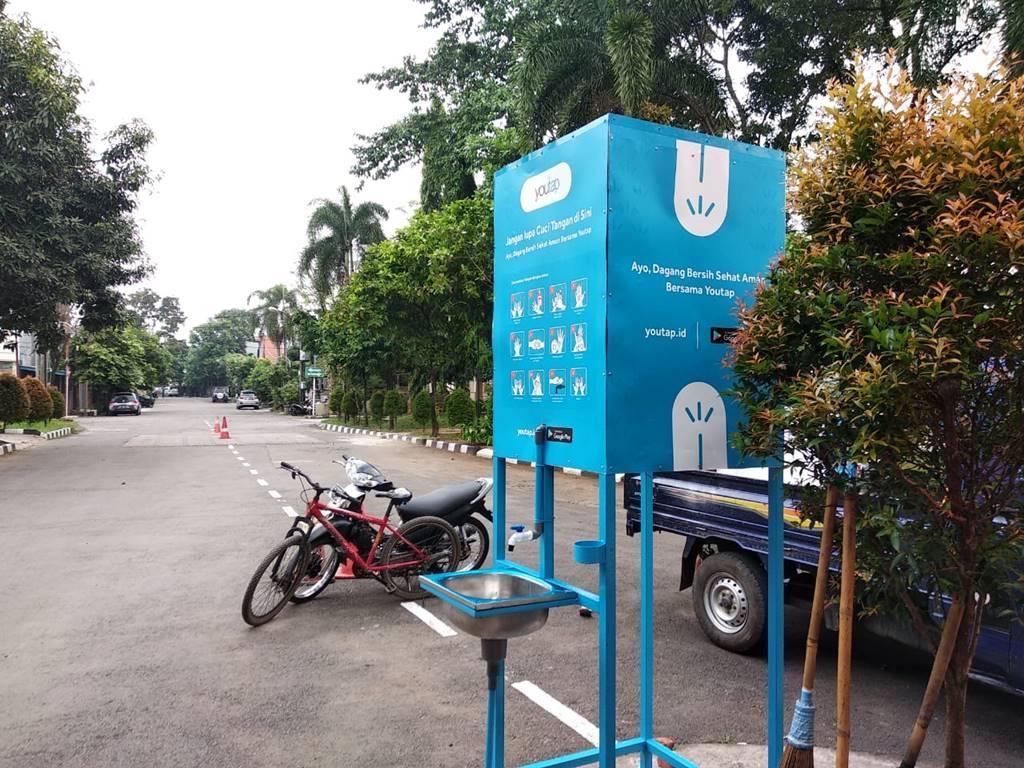 Fasilitas cuci tangan Youtap Indonesia